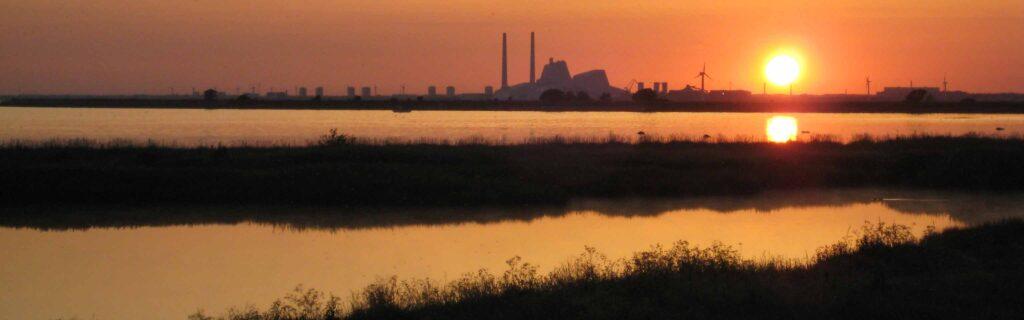 Billede af solnedgang